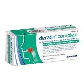 Deratin Complex 30 Comprimidos Para Chupar (Sabor Menta)