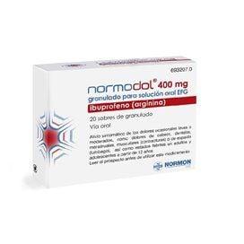 Normodol Efg 400 Mg 20 Sobres Granulado Para Solucion Oral