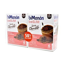 Bimanan beSLIM Batido Chocolate 2x6 Sobres Duplo
