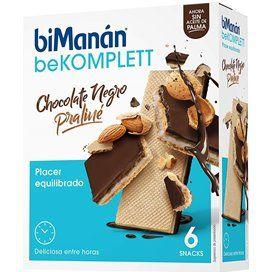 Bimanan beKOMPLETT Snack Chocolate Negro Praline 6 Snacks