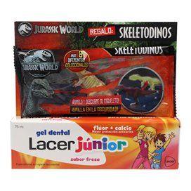 Lacer Junior Gel Dental de Morango 75 Ml + Dinossauro Luminoso