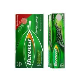 Berocca Performance Frutos Rojos 30 com. eferv. + Berocca Boost 15 comp. eferv.
