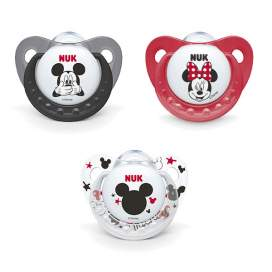 Chupete NUK Mickey Mouse 0-6 M Silicona 1 ud