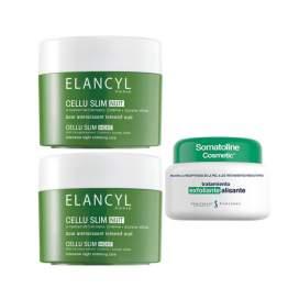 Elancyl Cellu-Slim Anticelulitis Noche 2x250 Ml + Exfoliante 300Ml