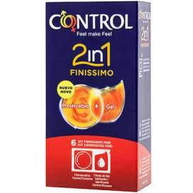 Control 2 en 1 Finissimo 6U (Preservativo + Gel Lubricante)