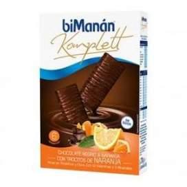 Bimanan Komplett Chocolate Negro & Naranja Con Trocitos De Naranja 6 Barritas De 35 G