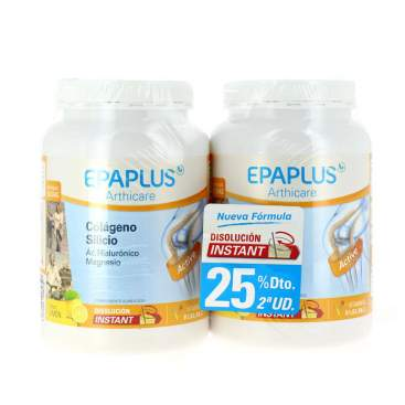 Epaplus Colageno+Hialuronico+Magnesio+Vitaminas Duplo Limon 2x332G