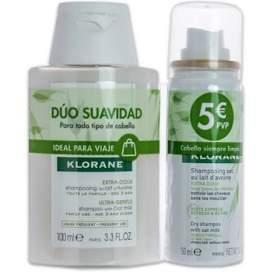 Klorane Pack Champú Avena 100Ml + Champú Seco Avena 50Ml