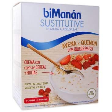 Bimanan Cremas Avena Y Quinoa Con Frutos Rojos Y Cereales 5U