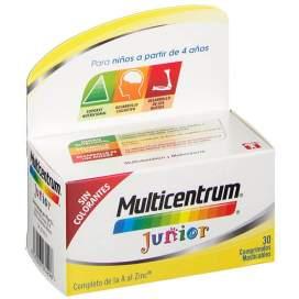 Multicentrum Junior 30 Comprimidos Frambuesa/Limon