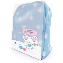Sebamed Baby Canastilla Mochila Azul Baño 500Ml+Leche 400Ml+Colonia 250Ml+Crema 50Ml+ Toallitas 72U
