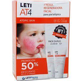 Leti At4 Crema Regeneradora Facial Duplo 2x50Ml