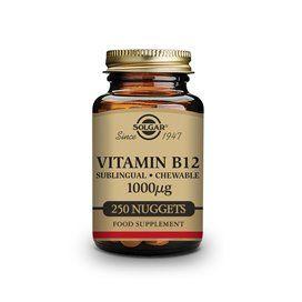 Solgar Vitamina B12 1000Mcg (Cianocobalamina) 250 comprimidos mastigáveis