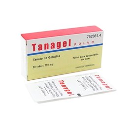 Tanagel Polvo 250 Mg 20 Sobres Polvo Suspension Oral