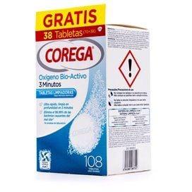 Corega Oxigeno Bio-Activo Limpieza Protesis Dental 108 Tabletas