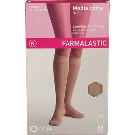 Farmalastic Media Corta (A-D) Comp Normal Beige T Grande