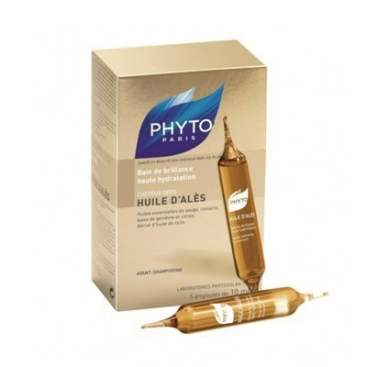 Phyto Huile D´Ales Baño de Brillo e Hidratacion 5 Ampollas EN